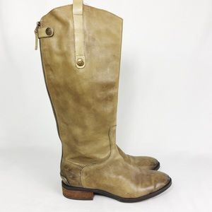 Sam Edelman olive leather riding boots Penny 7.5